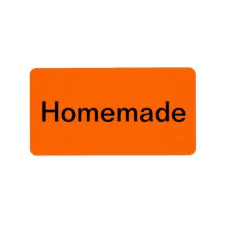 Handmade Merchandise Tags Orange Label