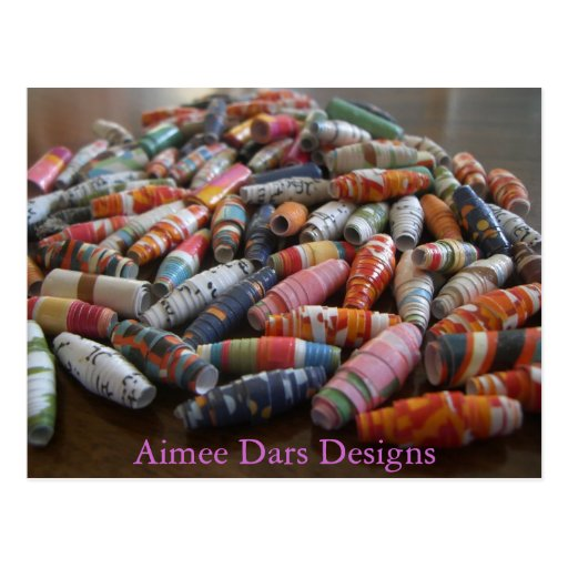 Handmade Paper Beads Post Cards