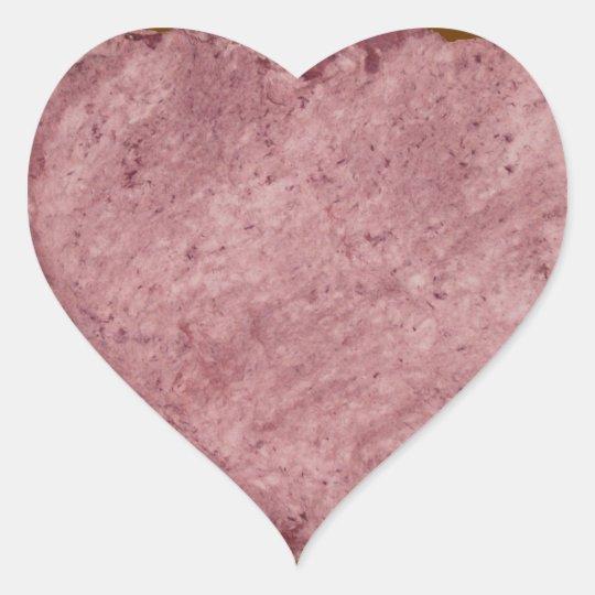 Handmade Paper Heart 009 Heart Sticker