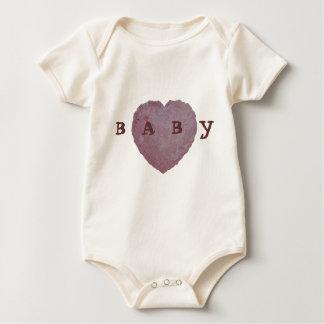 Handmade Paper Heart 010 Baby Bodysuit