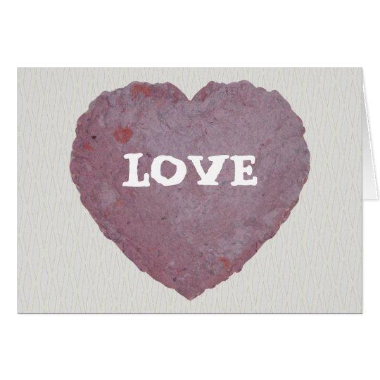 Handmade Paper Heart 010 Card