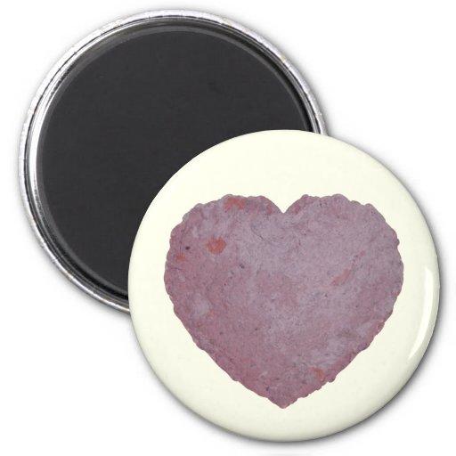Handmade Paper Heart 010 Fridge Magnets