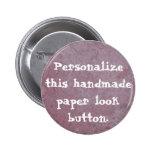 Handmade Paper Heart 010 Pinback Buttons