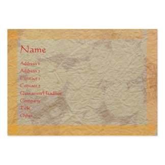 Handmade Paper LOOK only (choose your paper choice Large Business Card