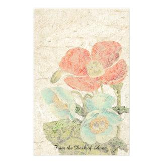 Handmade Paper Oriental Poppy Flowers Floral
