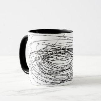 handmade pen scrawl scribble blot smudge daub smea mug