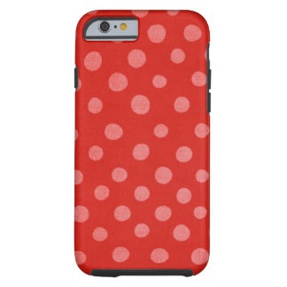 Handmade Polka Dots Red Case Tough iPhone 6 Case