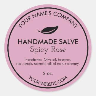 Handmade Round Salve or Body Butter Labels Modern