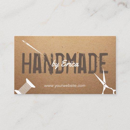 Handmade sewing crafts vintage cardboard business card zazzle handmade sewing crafts vintage cardboard business card colourmoves
