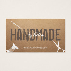 Handmade Sewing Crafts Vintage Cardboard Business Card at Zazzle