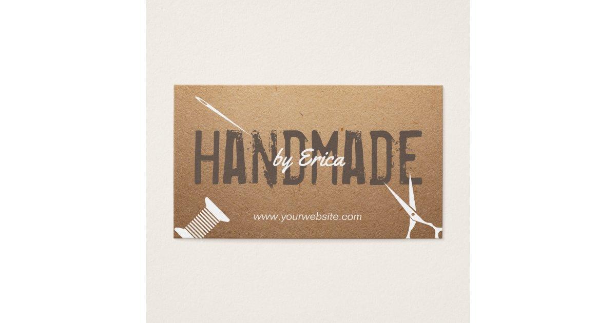 Handmade Sewing Crafts Vintage Cardboard Business Card   Zazzle.com
