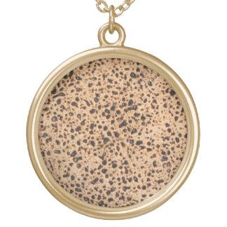 Handmade Shemurah Matzah Round Pendant Necklace