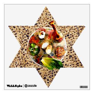 Handmade Shemurah Matzah & Seder Plate Wall Sticker