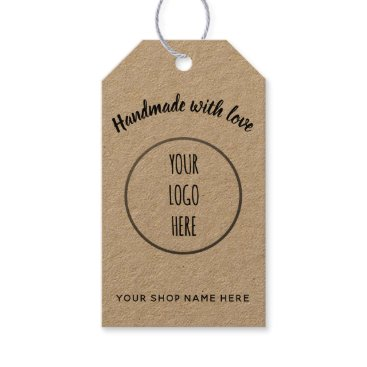 Professional Business Handmade Shop • logo Gift Tags