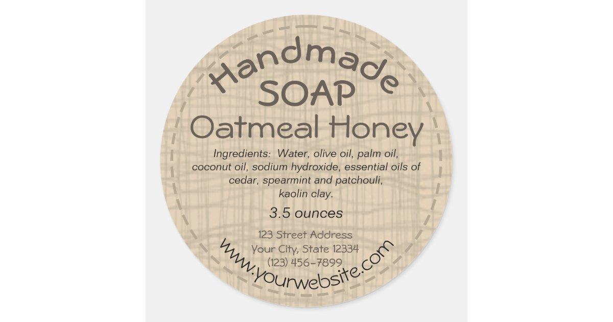 Handmade Soap Label Round Sticker