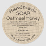 Handmade Soap Label Round Sticker Country Rustic