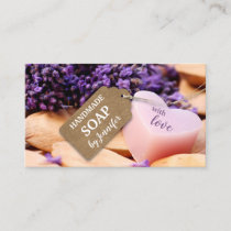 Handmade Soap Lavender Business Card