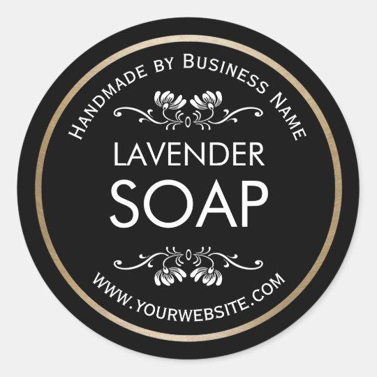 Handmade Soap Making Vintage Floral Plain Black Classic
