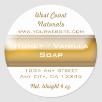 Handmade Soap Packaging - Tan and White Label Sticker