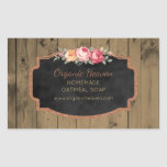 Handmade Soap Rustic Wood Chalkboard Product Label