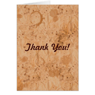 Handmade Textured Paper-look Rustic Thank You Card