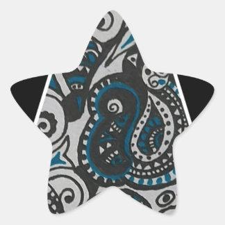 Handmade Triangle Intricate design Star Sticker
