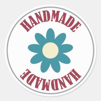 Handmade With A Flower Sticker