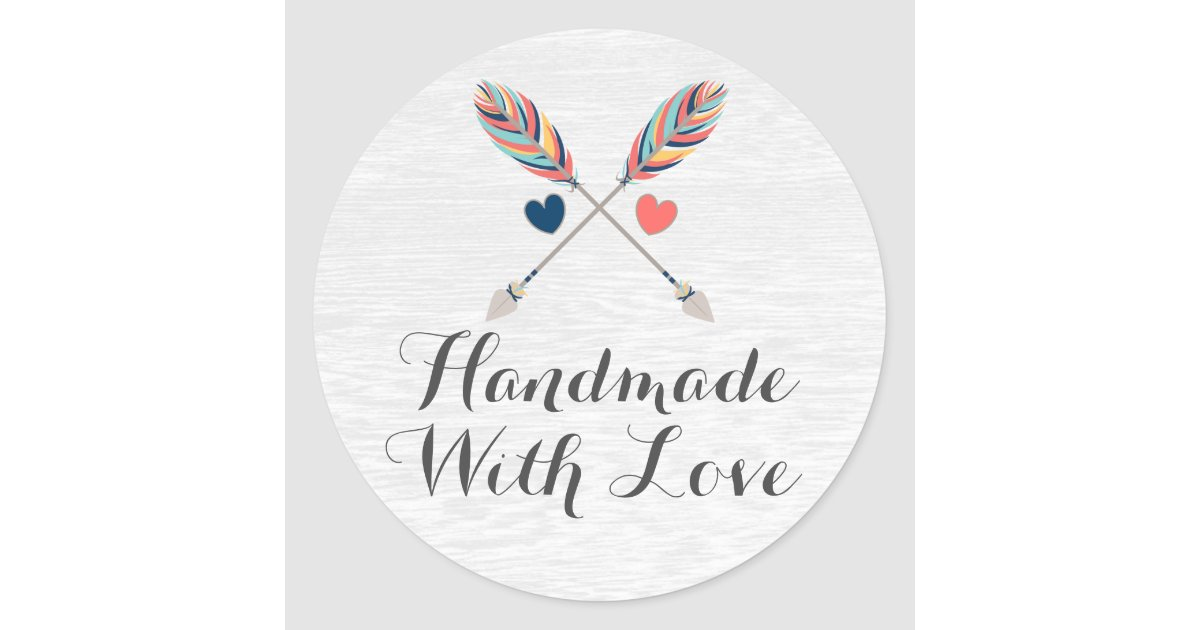 Handmade With Love Bohemian Crossed Arrows Rustic Classic