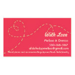 Handmade with love Double-Sided standard business cards (Pack of 100)