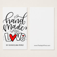 Handmade With Love, Business Card at Zazzle