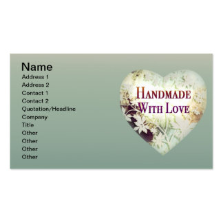 Handmade With Love Business Cards (naturals)