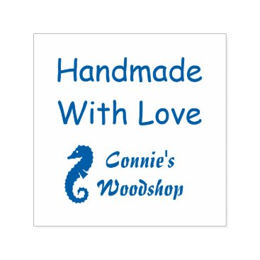 Professional Business Handmade With Love Custom Nautical Self-inking Stamp