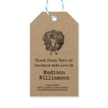 Handmade with Love | Dyed Yarn | Sheep Print Gift Tags
