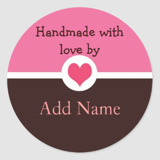 Handmade with Love Gift Sticker