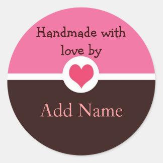 Handmade with Love Gift Sticker