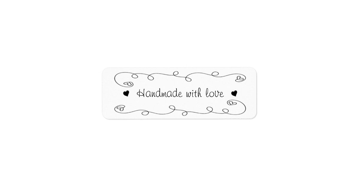 Handmade With Love Hearts Label Gift Tag Zazzle Com