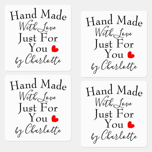 Handmade With Love Just For You Personalized Labels