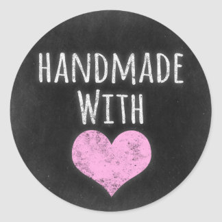 Handmade With Love Product Packaging Classic Round Sticker