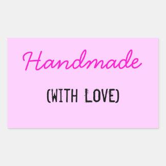 Handmade With Love Rectangular Sticker