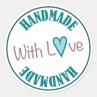 Handmade With Love Round Sticker