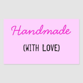 Handmade With Love Rectangular Sticker