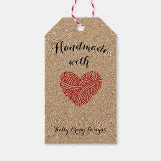 Handmade with Love Yarn Heart Crafts Gift Tags