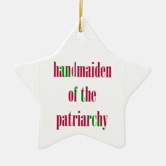 Handmaiden del patriarcado adorno navideño de cerámica en forma de estrella