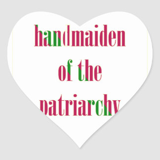 Handmaiden del patriarcado calcomanía corazón personalizadas