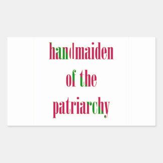 Handmaiden del patriarcado rectangular pegatinas
