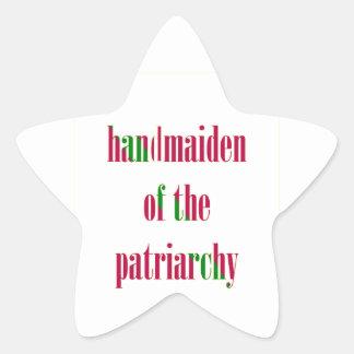 Handmaiden del patriarcado pegatina forma de estrella personalizada