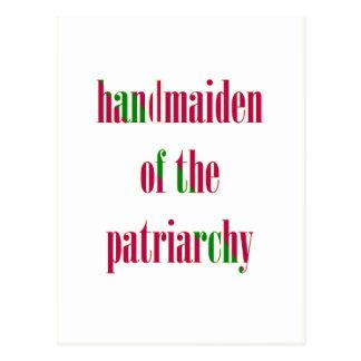 Handmaiden del patriarcado tarjetas postales