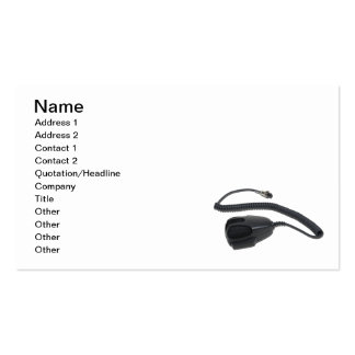 HandMicrophoneCable020511, Name, Address 1, Add... Business Card Templates