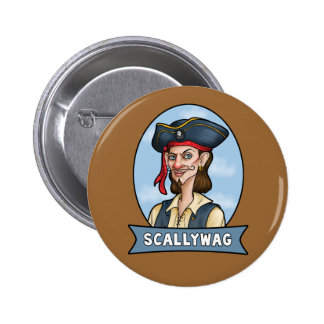 Handome Pirate is a Scallywag Buttons