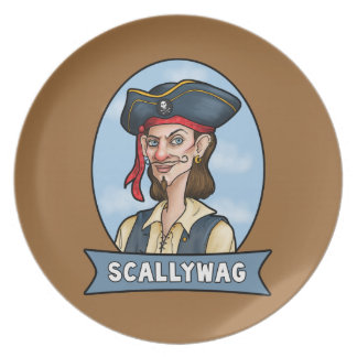 Handome Pirate is a Scallywag Party Plates